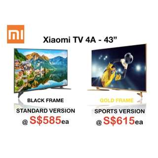 "XIAOMI TV VERSION 4A 43"" & 43"" SPORTS FULL HD"