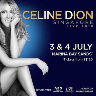Celine Dione Ticket