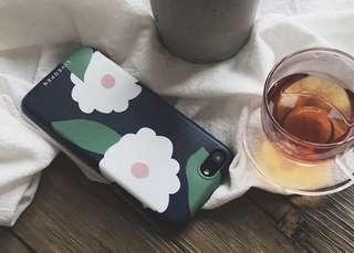 圓角山茶花磨砂軟殻iphone電話手機保護套