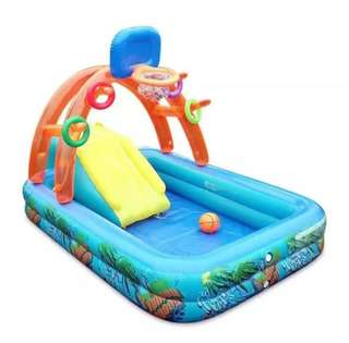 Multifunctional Splash Kids Pool with slide