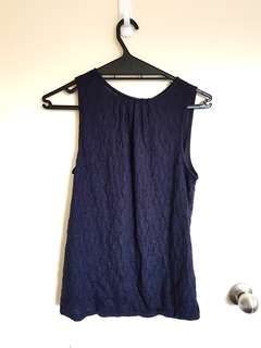 Navy blue sleeveless top size XS