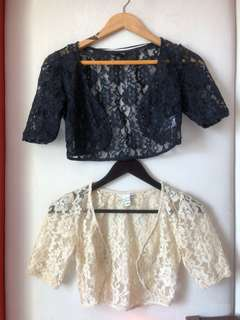 320 for 2 H&M lace crop/bolero cover up