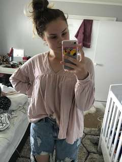 Glassons dusty pink top