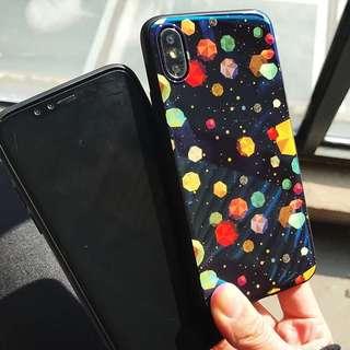 藍光面星球全包邊iphone電話手機保護套