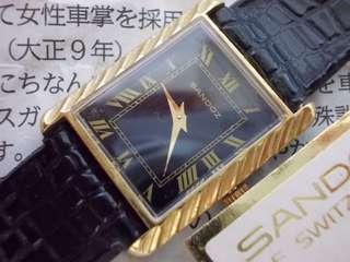 Vintage Sandoz Swiss made midsized watch NOS