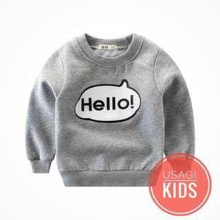 kids apparel Hello~!看见我你会对我微笑的说哈咯吗? こんにちは〜!あなたは私に会ったときに私に笑顔でいますか? Hello~! Do you smile at me when you meet me?