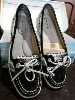 Authentic Preloved SPERRY Angelfish Houndstooth