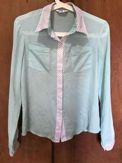 Mint Green Button Down Long Sleeves
