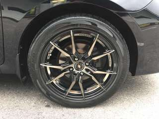 Used 16' INFORGED sport rims with TOYO tyres (Set)