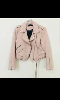 Zara Small Pink suede
