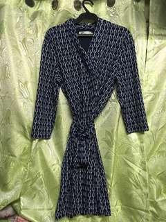 CALYPSO blue printed dress