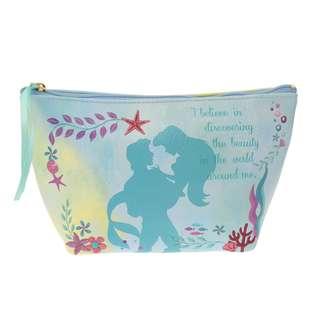 日本 Disney Store 直送 Ariel Silhouette Story 系列 The Little Mermaid 小魚仙化妝袋 / 雜物袋