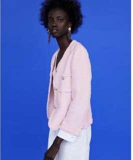 Zara Tweed Blazer with Buttons