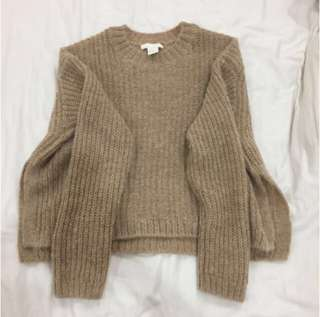 H&M knitted cropped jumper