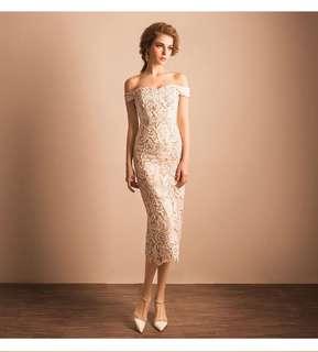 Premium Off shoulder lace dress