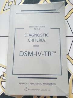 DSM-IV-TR (Diagnostic Criteria)