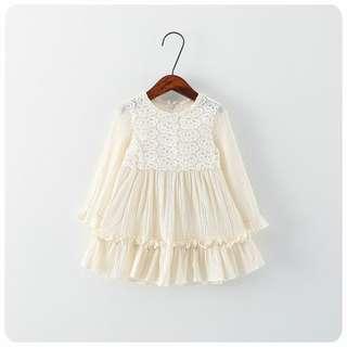 柔軟棉麻喱士傘裙腳娃娃裙