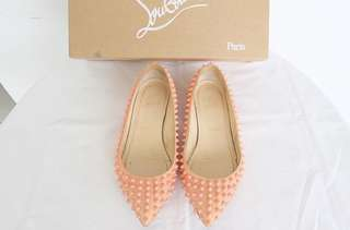 Authentic preloved christian louboutin flat shoes