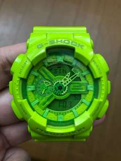 G-Shock GA-110B Hyper Color lime green