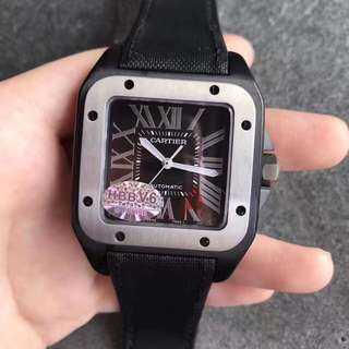 Cartier Santos 100 XL Black PVD Swiss Engine