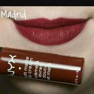Authentic Nyx Soft Matte Lip Cream Lipstick in Madrid