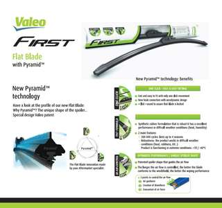 Valeo flat blade window wiper