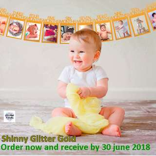 now have gold -Baby 12 month banners