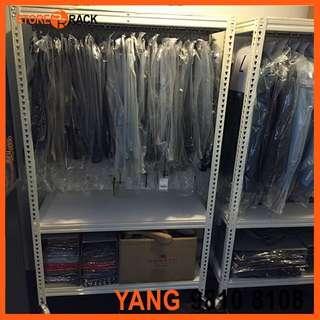Customized Movable Hanger Boltless Rack on Caster for Shopping Center