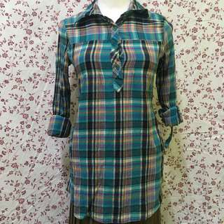 Long Flannel Blouse
