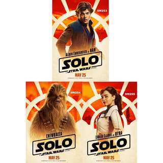 SOLO: A STAR WARS STORY MOVIE POSTERS (PART 2)