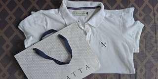 Regatta polo shirt/button plain white
