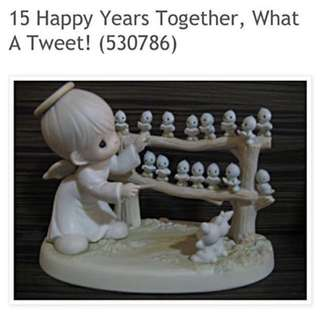 Precious Moments 15th Anniversary Commemorative Figurine