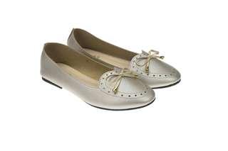 93-8165 Grey Flats Shoes #rayaletgo
