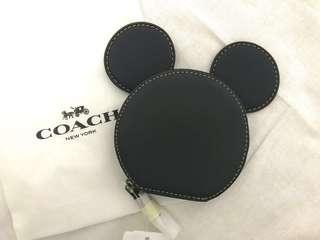 Coach X DISNEY limited edition Mickey Mouse Ears Glove Leather Coin Purse #rayaletgo