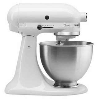 KitchenAid K45SSWH 白色4.5QT 抬頭攪拌機