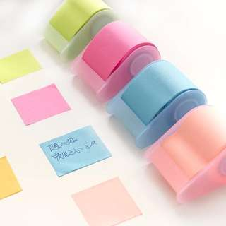 PO: Post-It Roll (Adjust to preferred sizes)
