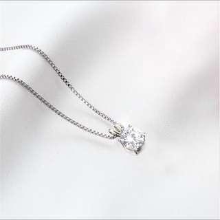 💎BN Zircon Crystal Silver Necklace