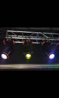 Professional stage / disco lights fully automated and programmable. Advanced system. Selling cheap