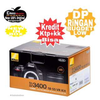 Cicilan Ringan Nikon D3400 kit AF-P DX 18-55mm VR ditoko Dp 800rb
