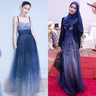 Evening Gowns for Rent RM35 to RM70! Dinner Dress Sewa Sequin Long Maxi Glitter Bareback Floral Masquerade Glam