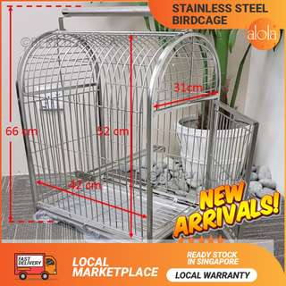 ✔FREE DELIVERY: STOCKS ARRIVED Stainless Steel Birdcage Parrot Cage Pet Parrot Carrier cage Bag Small And Medium Birds