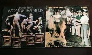 URIAH HEEP ● UTOPIA. wonderworld / swing to the right.( buy 1 get 1 free )  Vinyl record