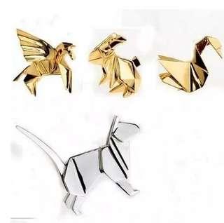 #211 origami animal tumblr enamel pin | po