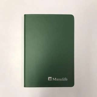 BN Manulife A5 Hard Cover Faux Leather Line Notebook Journal Diary Planner