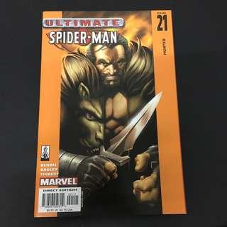 Ultimate Spiderman 21 Marvel Comics Book Stan Lee Movie Avengers