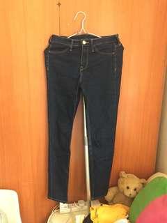 H&M藍色牛仔褲