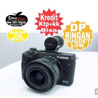 Cicilan Ringan Dp 1jtaan Canon EOS M6 Kit 15-45mm ditoko call/sms Wa;081905288895