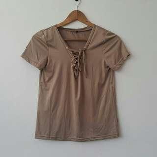 Knot Shirt Brown