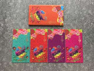 Cover+4pcs Microsoft 2017 exclusive red packet / ang pow pao