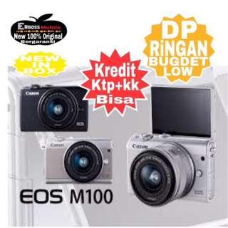 Cicilan Ringan Canon EOS M100 Kit 15-45mm ditoko Dp 800rb Wa;081905288895